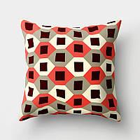 Подушка декоративная Черные квадраты 45 х 45 см Berni Home