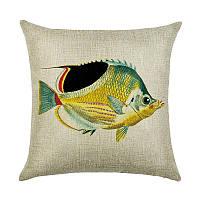 Подушка декоративная Желтая рыбка 45 х 45 см Berni