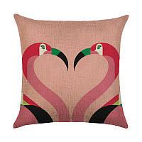 Подушка декоративная Фламинго 45 х 45 см Berni Home