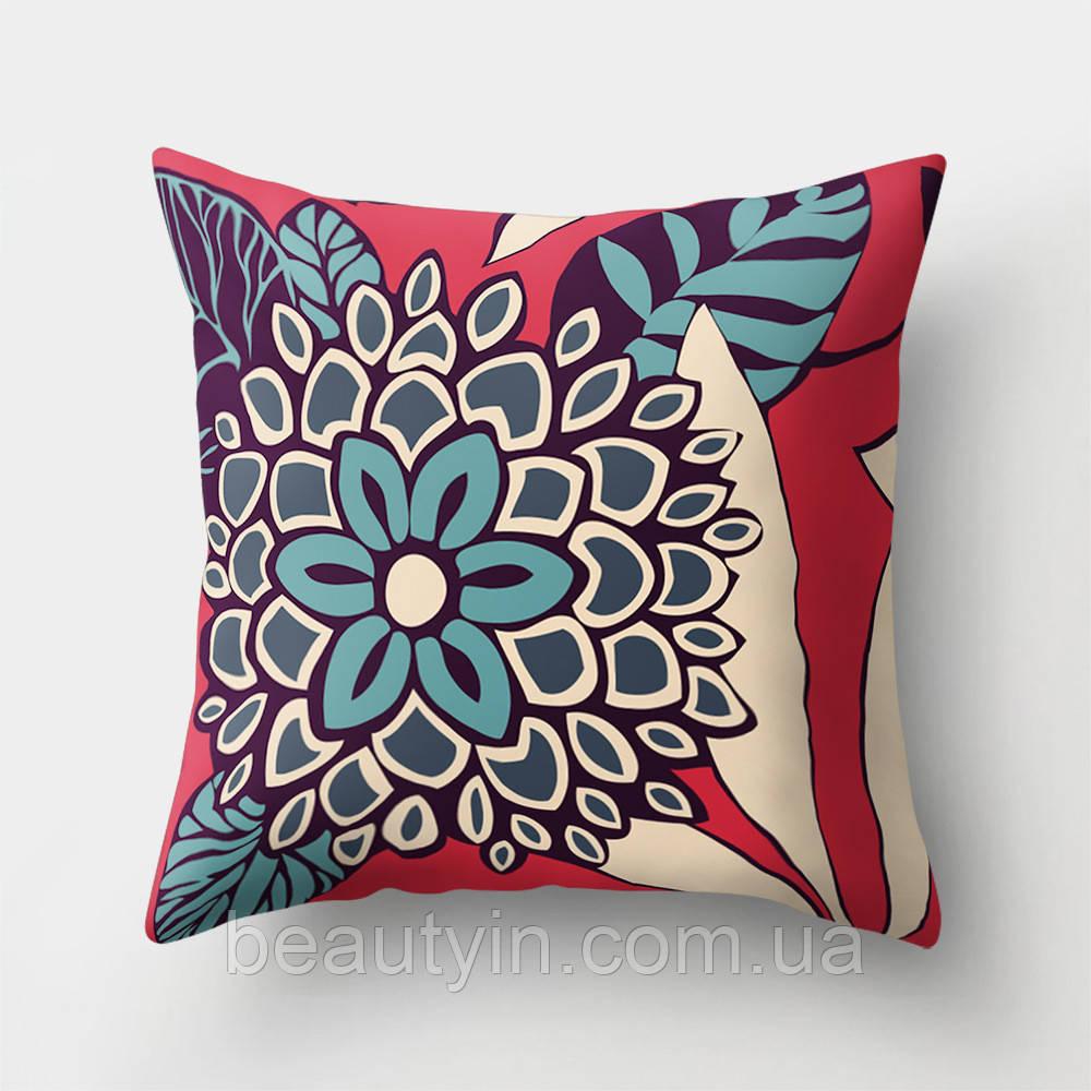 Подушка декоративная Голубой цветок 45 х 45 см Berni Home
