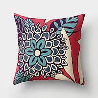 Подушка декоративная Голубой цветок 45 х 45 см Berni Home, фото 1