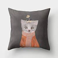 Подушка декоративная Кошка и мышка 45 х 45 см Berni Home