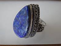 Кольцо винтажное натуральный лазурит в серебре Индия