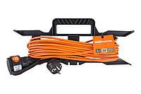 Удлинитель-шнур силовой на рамке УШ10 TDM (штепс. гнездо, 30м ПВС 2х1,0)