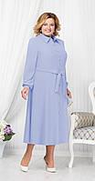 Платье Ninele-2178 белорусский трикотаж, голубой, 52