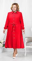 Платье Ninele-2178/1 белорусский трикотаж, красный, 52