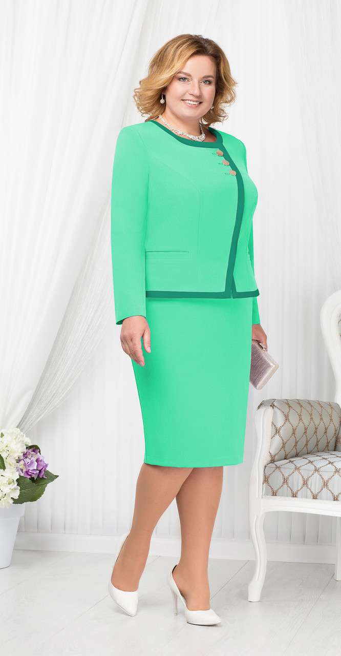 Костюм Ninele-5667/4 белорусский трикотаж, зеленый, 56