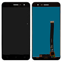Дисплей Asus ZenFone 3 ZE520KL черный (LCD экран, тачскрин, стекло в сборе), Дисплей Asus ZenFone 3 ZE520KL чорний (LCD екран, тачскрін, скло в зборі)