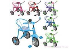 Велосипед 3-х колесн. хром, 6 цветов, клаксон, 51х52х40см. LH 701-2 (6) [285654]
