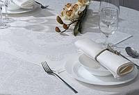 Жаккардовые столовые комплекты белые