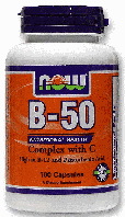 Витамин В Комплекс, Now Foods, Vitamin B-50 Complex with 250 mg Vitamin C, 100 Caps  ,