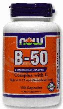 Витамин В Комплекс, Now Foods, Vitamin B-50 Complex with 250 mg Vitamin C, 100 Caps  ,