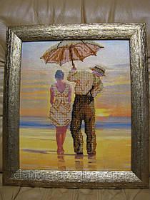 Готовая картина вышитая бисером Рандеву