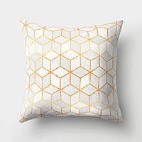 Подушка декоративная Серые кубы 45 х 45 см Berni