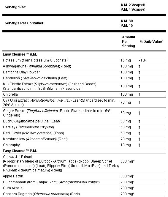 Резултат с изображение за NOW FOODS Easy Cleanse Kit - AM 60 caps / PM 60 caps