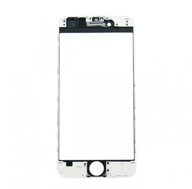 IPhone 7 скло біле з рамкою + OCA-плівка