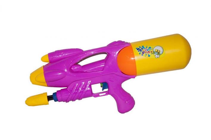 """Водяное оружие """"Water Gun"""" с накачкой (розовое), фото 2"""