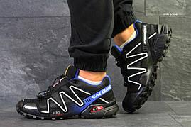 Кроссовки мужские Salomon Speedcross 3 черные с синим