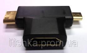 Переходник HDMI F/mini HDMI M/ micro MI
