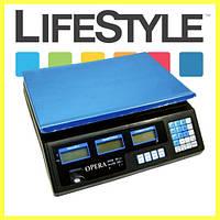 Электронные торговые весы Opera Plus до 40 кг, фото 1