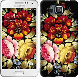 "Чехол на Samsung Galaxy Alpha G850F Хохлома 6 ""829c-65-328"""