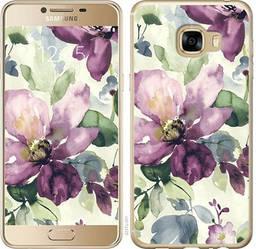 """Чехол на Samsung Galaxy C5 C5000 Цветы акварелью """"2237c-301-328"""""""