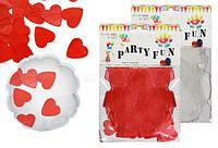 Конфетти для шаров гигантов 25гр, бумажные сердечки