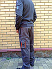 Брюки Modyf StarLine серо-оранжевые Wurth, фото 4