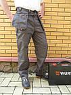 Брюки Modyf StarLine серо-оранжевые Wurth, фото 10