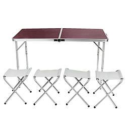 Раскладной стол + 4 стула Kazmi (120x60 cm)