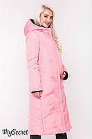 Стильное зимнее двухстороннее пальто для беременных TOKYO, розовое с черным*, фото 1