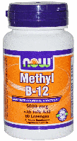 Метилкобаламин, Метил В-12, Now Foods, Methyl B-12, 5,000 mcg, 60 Lozenges