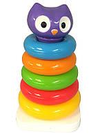 Развивающая игрушка - ПИРАМИДКА СОВА (057901)