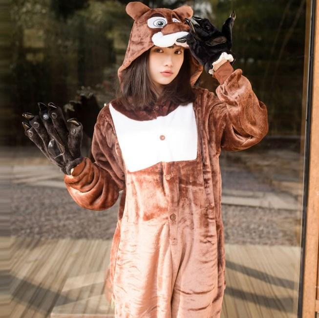 Пижама кигуруми Медведь S (150-160см)