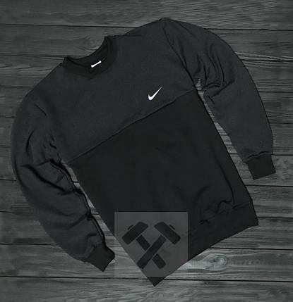 Свитшот Nike черно-серый топ реплика, фото 2