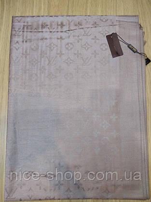 Палантин Louis Vuitton капучино светлый, фото 3