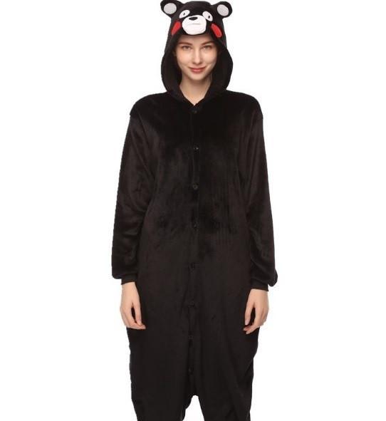 Пижама кигуруми женская и мужская Медведь черный
