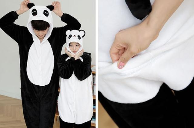 Пижама кигуруми женская и мужская Панда веселая 747708157880e