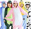 Пижама кигуруми женская и мужская Слон серый, фото 3