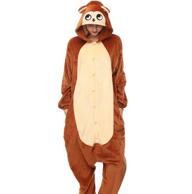 Пижама кигуруми Обезьяна коричневая S (150-160см)