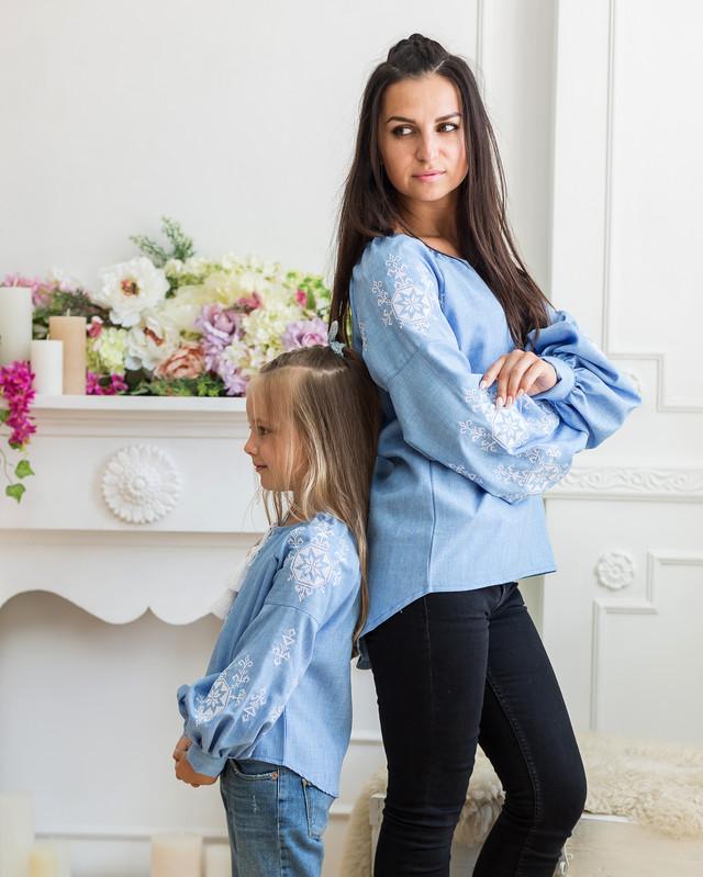 Парные вышиванки для мамы и дочери Звезда