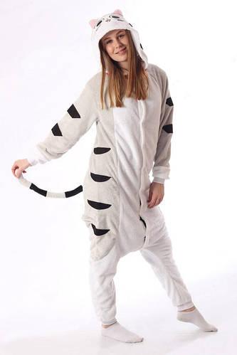 Пижама кигуруми женская и мужская Кот серый  купить с доставкой в Киеве eac6c6df83ce8