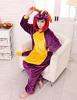 Пижама кигуруми женская и мужская Дракон Спайро