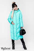 Стильное зимнее двухстороннее пальто/куртка для беременных TOKYO, аквамарин, фото 1