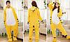 Пижама кигуруми женская и мужская Тигр желтый, фото 3