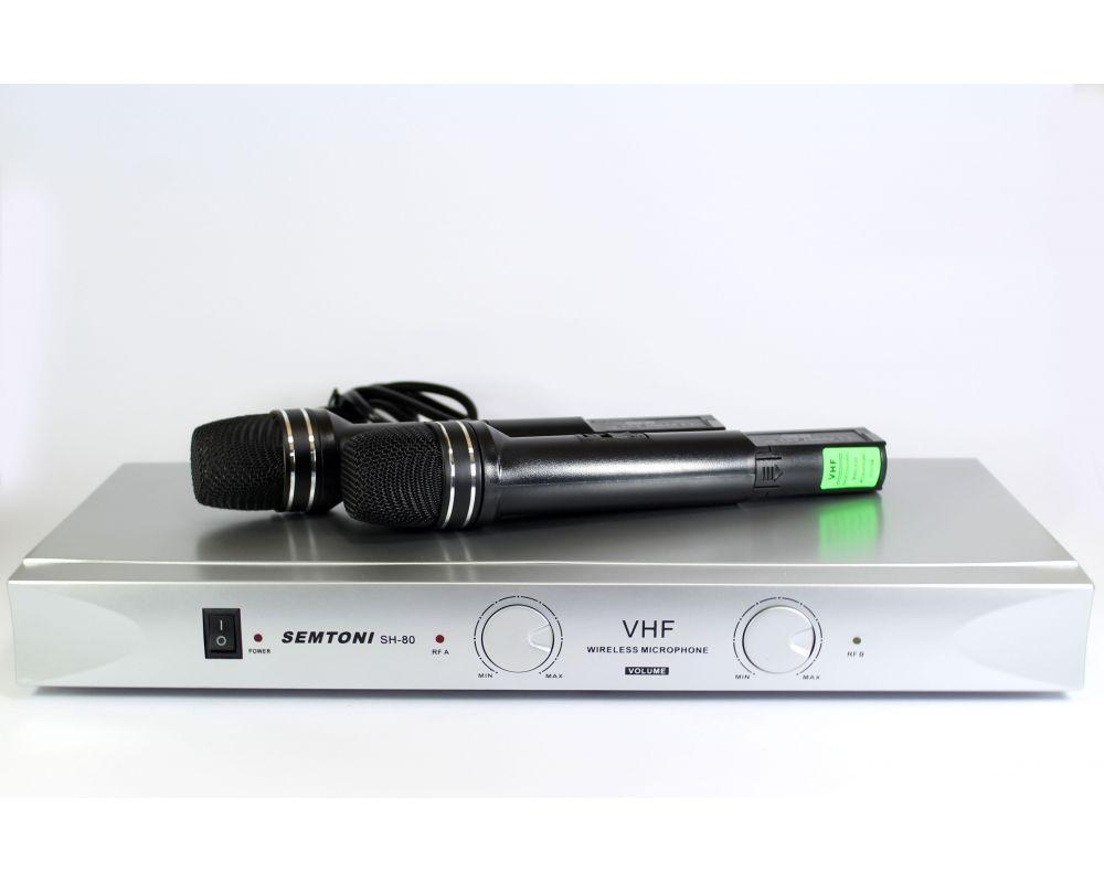 Набор 2 беспроводных микрофона с базой DM AK 30B