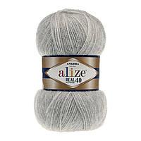 Alize Angora real 40 - 614 серый меланж