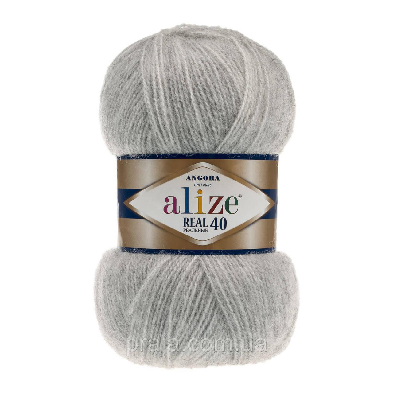 Alize Angora Real 40 614 серый меланж продажа цена в хмельницком