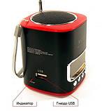 Портативная MP3 Колонка WS 259 Спикер USB FM am, фото 4