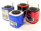 Портативная MP3 Колонка WS 259 Спикер USB FM am, фото 6